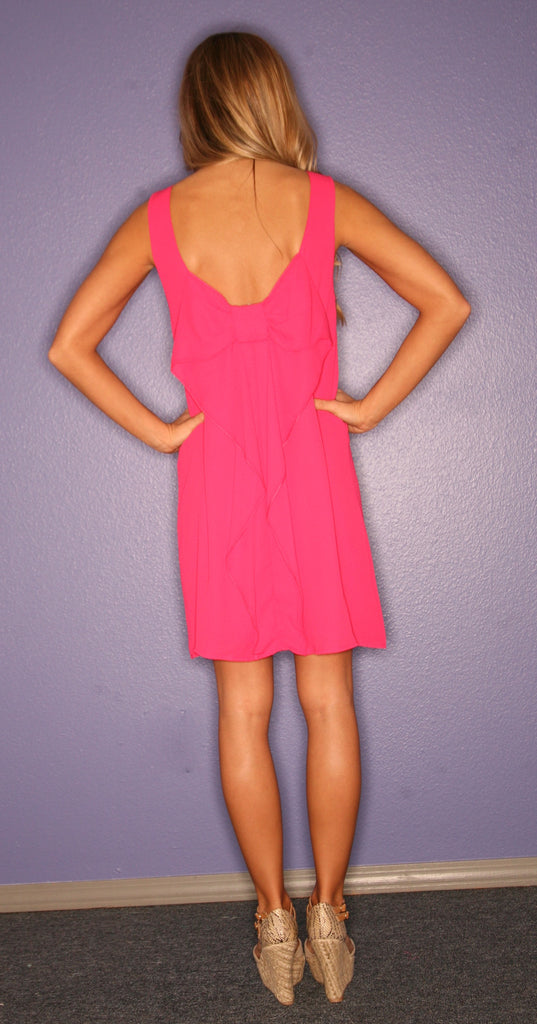 Bows & Kisses Sleeveless Fuschia