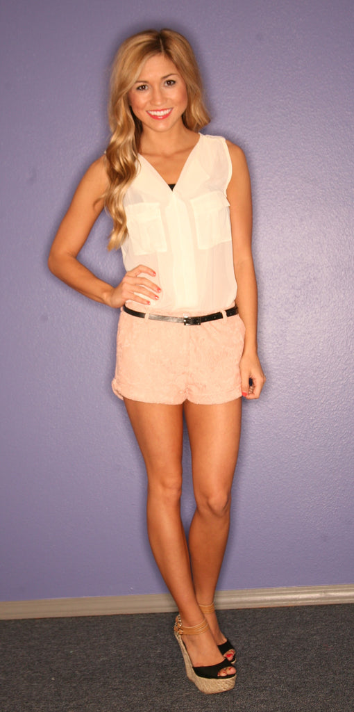 Downtown Dancing Short in Blush