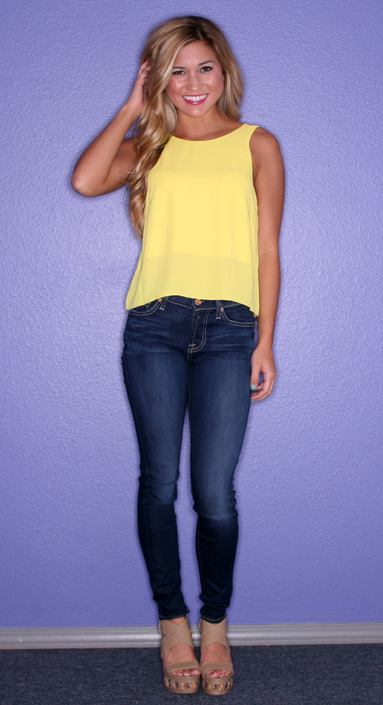 Malibu Loving Tank Yellow