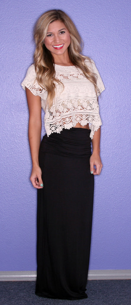 Impress Maxi Skirt Black