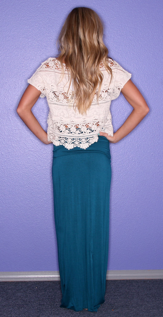 Impress Maxi Skirt Teal