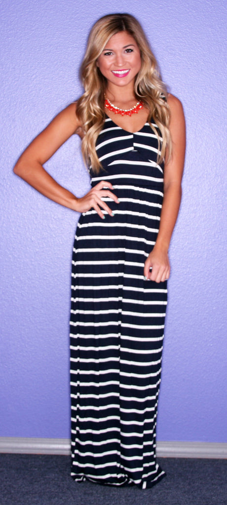 Striped Bliss Maxi Navy