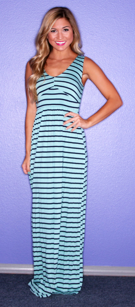 Striped Bliss Maxi Ocean