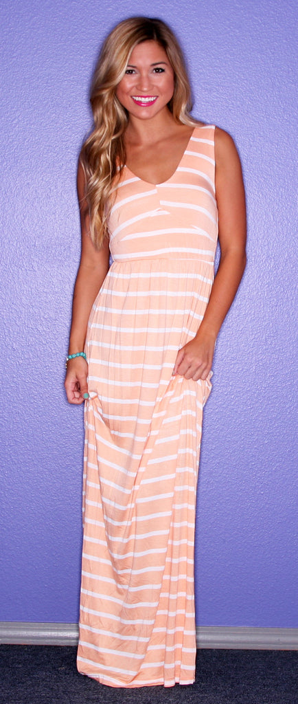 Striped Bliss Maxi Peach