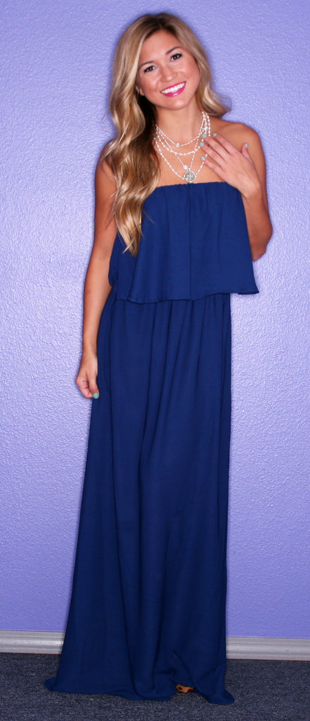 Forever Chic Maxi Navy