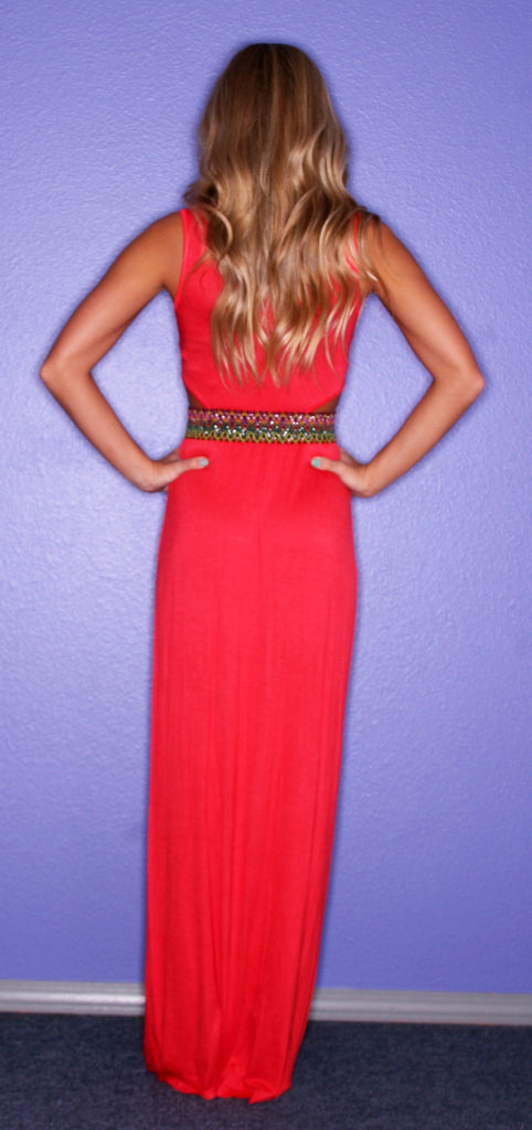 Santorini Dreaming Maxi Red