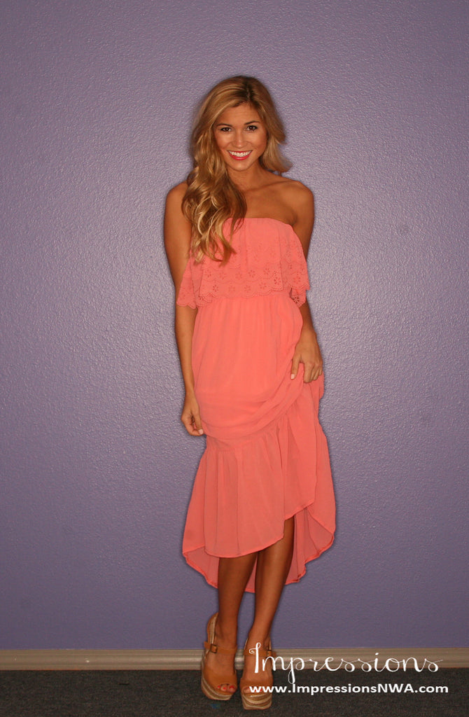 Southern Charm Maxi in Coral
