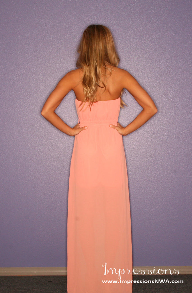 Sunshine Dreams Maxi in Peach