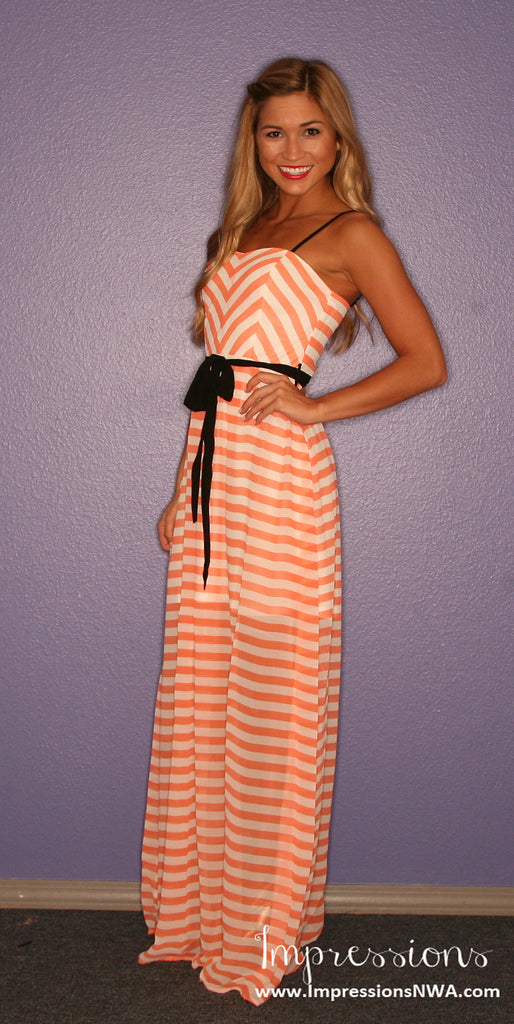 Striped Amore Maxi Tangerine