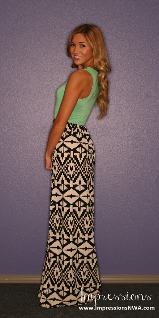 Tribal Me Pretty Maxi in Green
