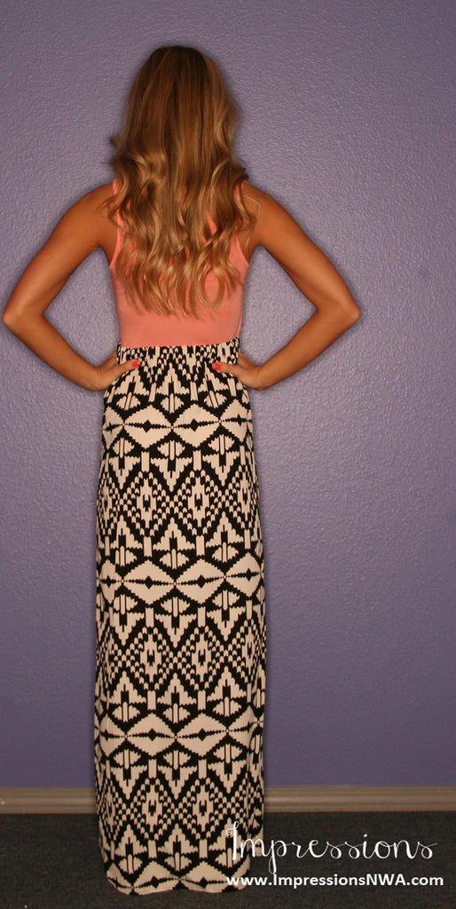 Tribal Me Pretty Maxi in Peach