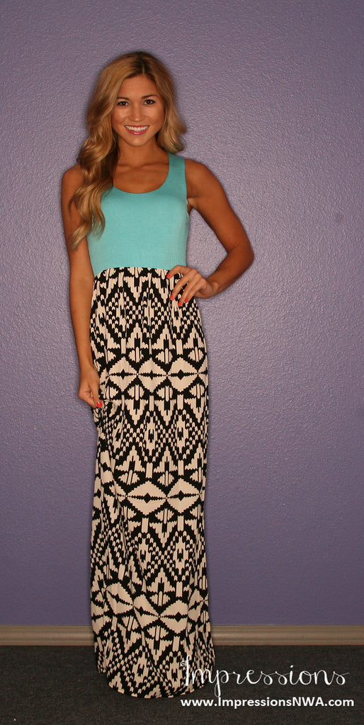 Tribal Me Pretty Maxi in Aqua