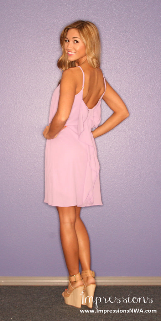 Bows & Kisses Lilac Tank Dress