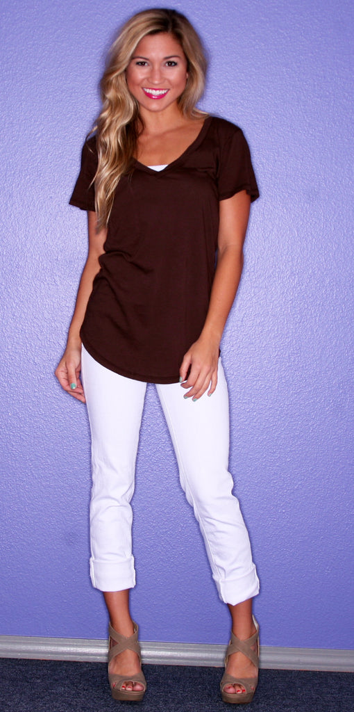 Bobi Lazy Sunday Tee Brown