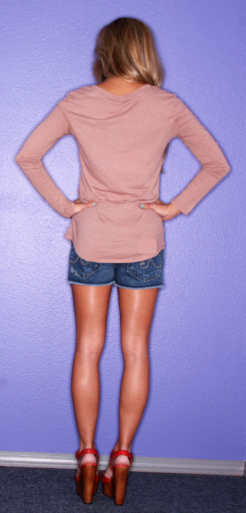 Bobi Comfy Long Sleeve Camel