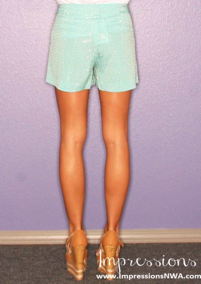 Uptown Girl Shorts Mint