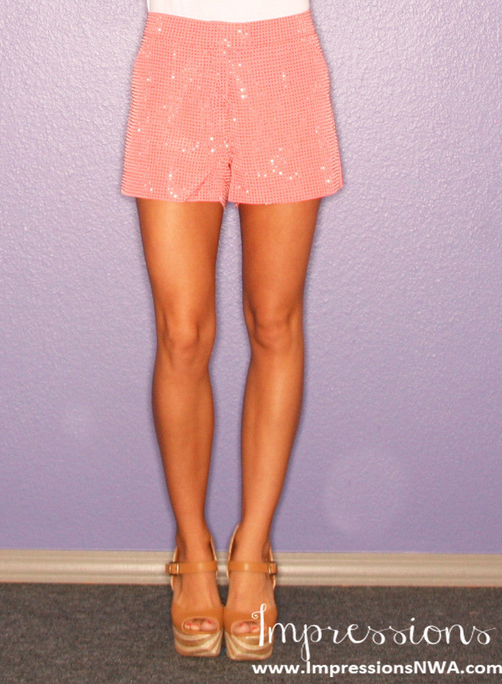 Uptown Girl Shorts Coral
