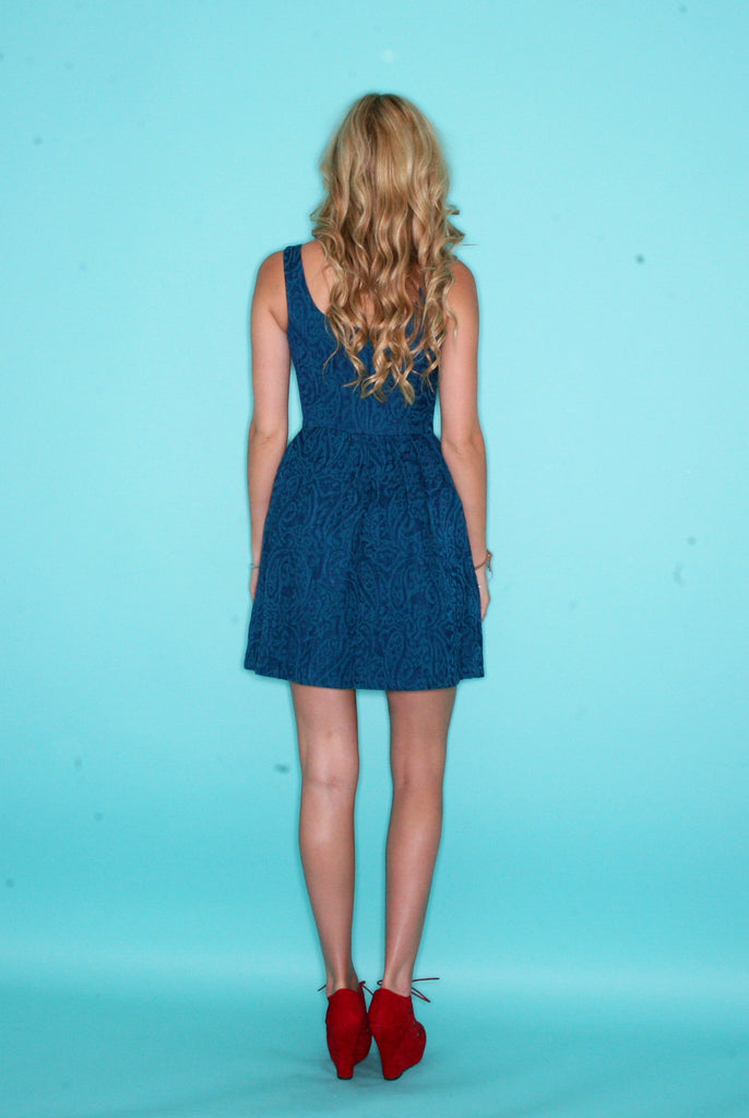 Corrine Dress in Aqua