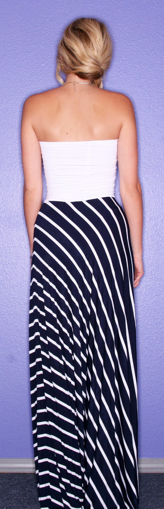 Nautical Runway White/Navy