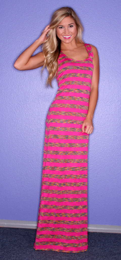 Glam Girl Stripe Maxi Pink