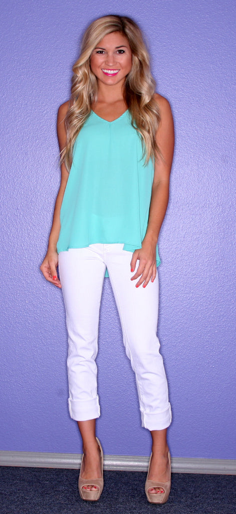 Lady Love Teal Tank