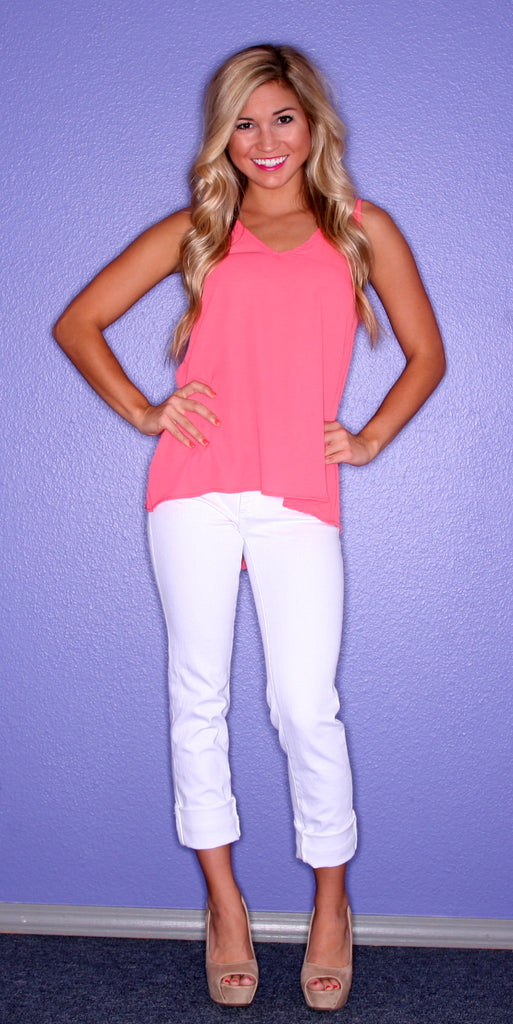 Lady Love Coral Tank