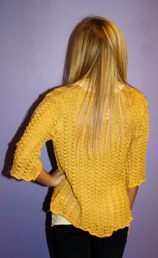 Knit Glitz Sweater Mustard