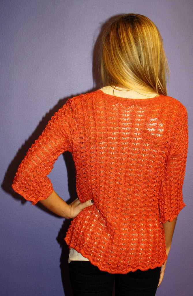 Knit Glitz Sweater Rust