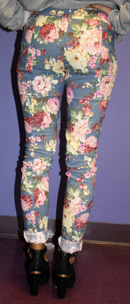French Rose Denim Skinny Blue