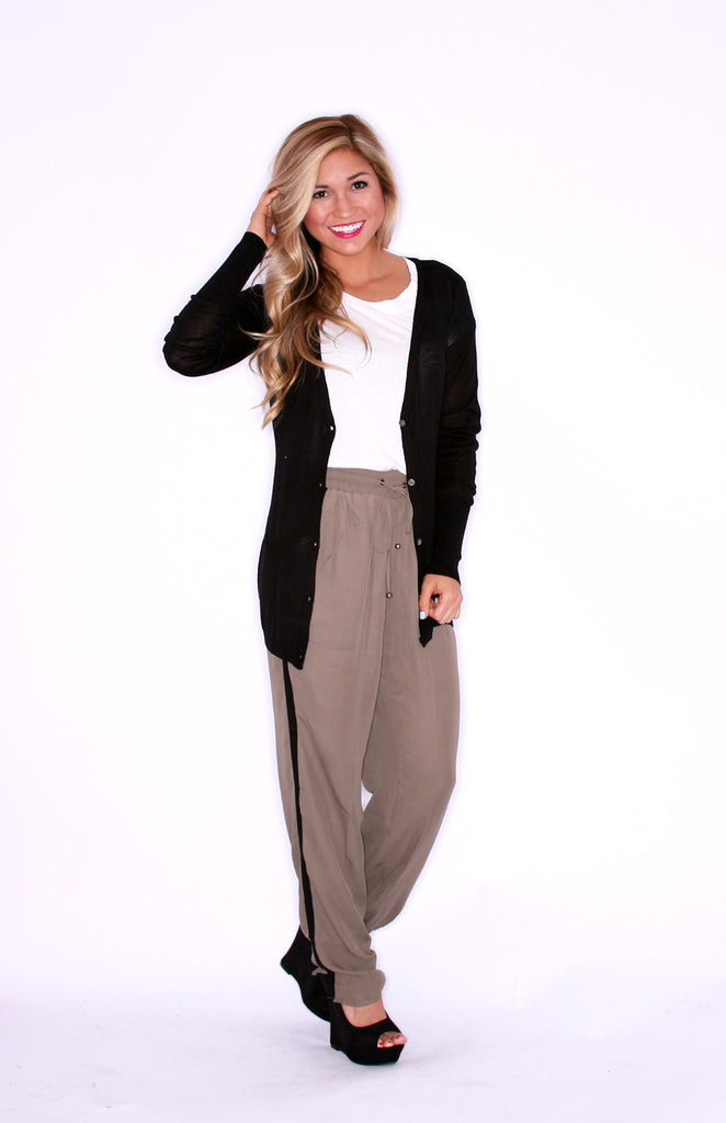Friday Casual Black Cardi