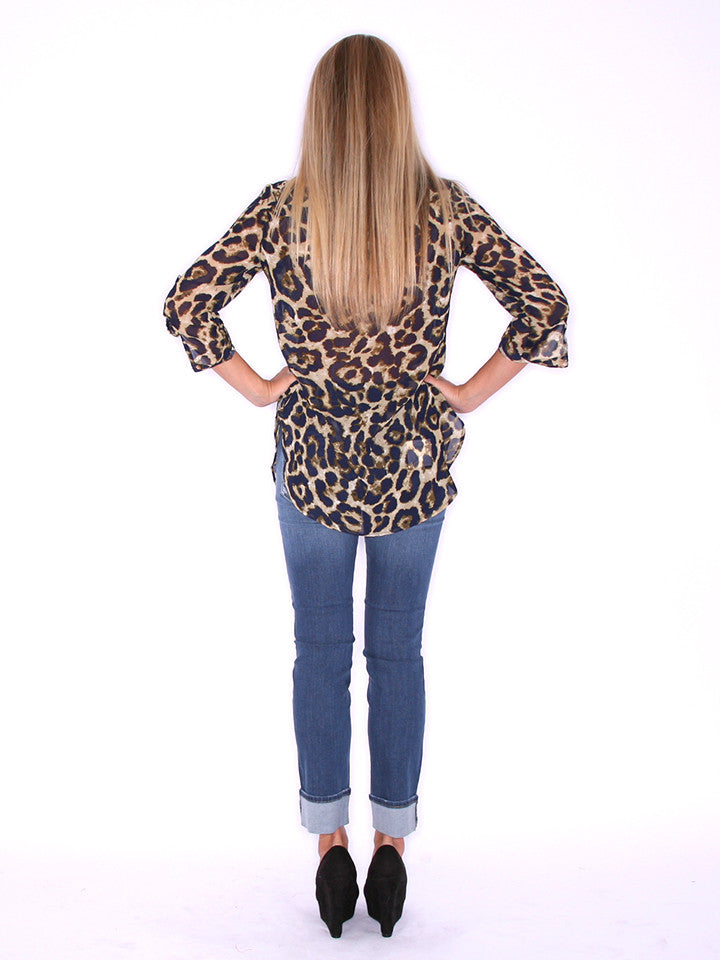 Sweet on Cheetah Navy