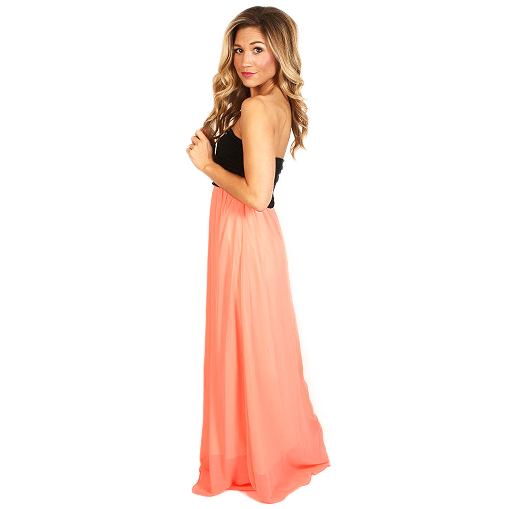 All Summer Long Maxi in Peach