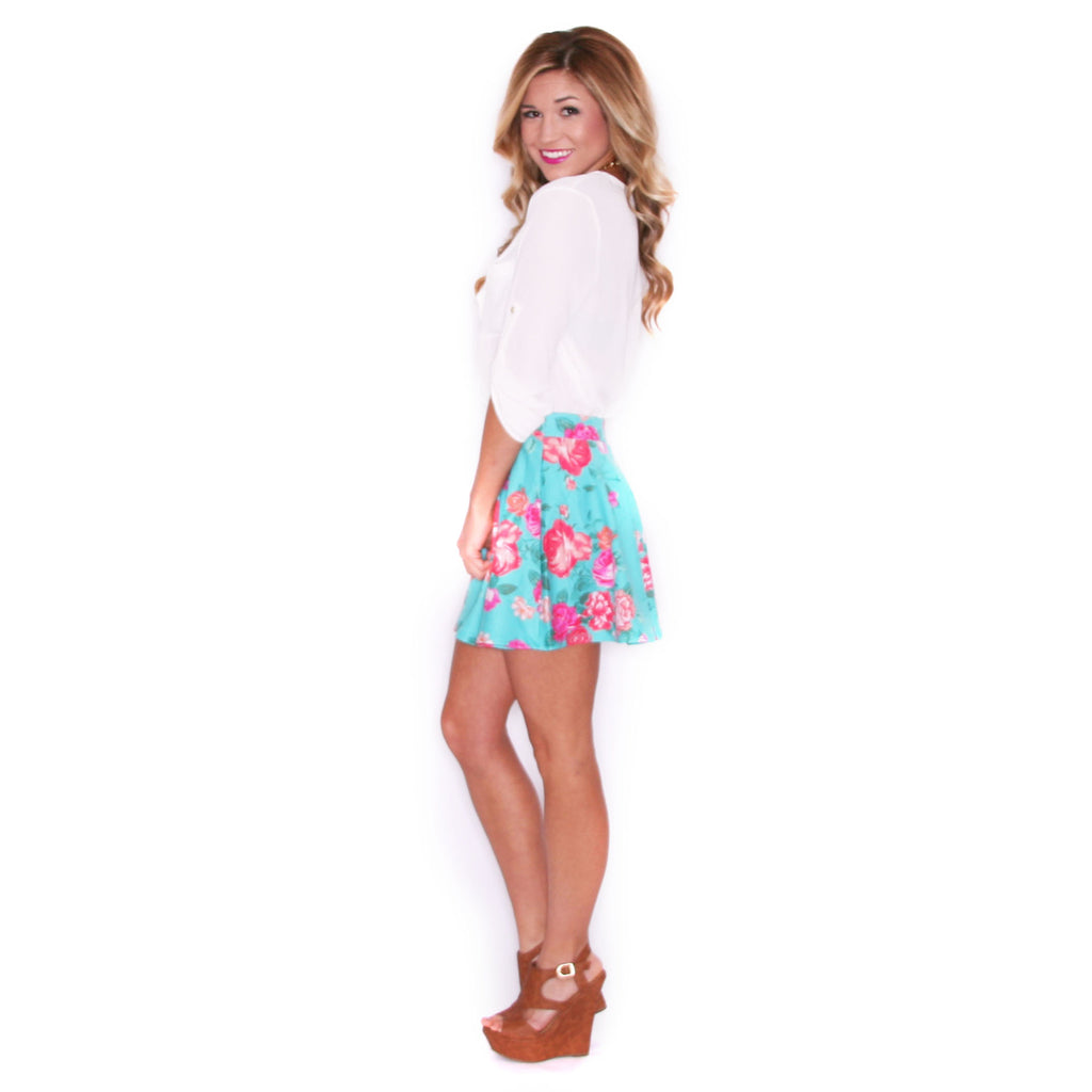 Hollywood Girl Skirt in Jade