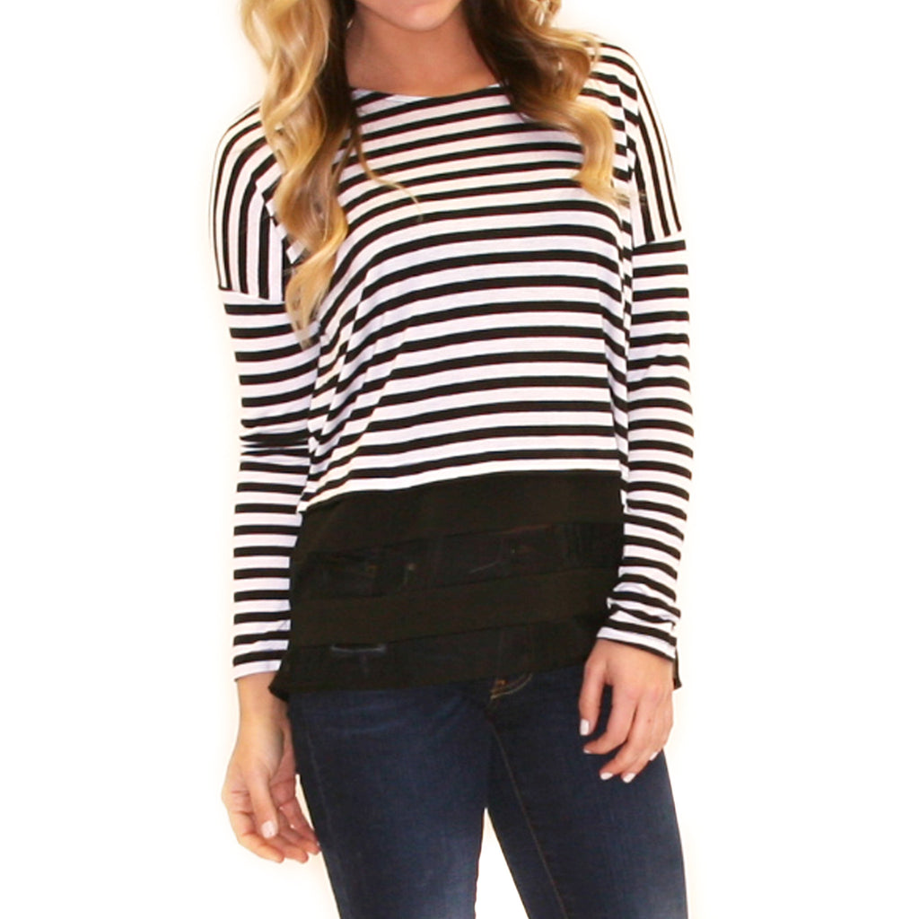 Striped Amore Black