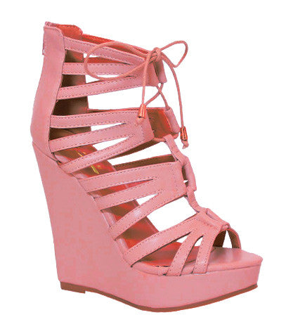 Endless Vacay Wedge in Coral