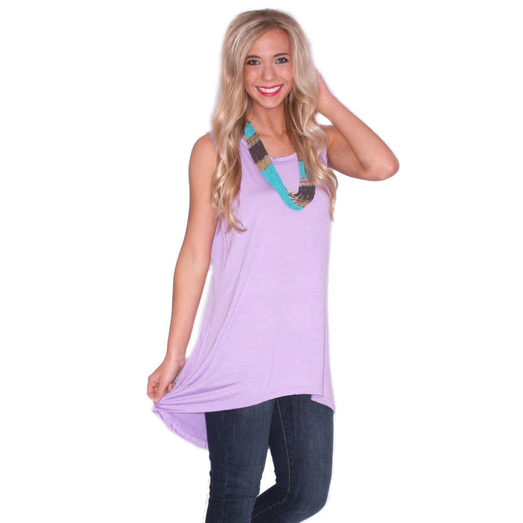 Anchors Away Tunic Tank in Light Purple