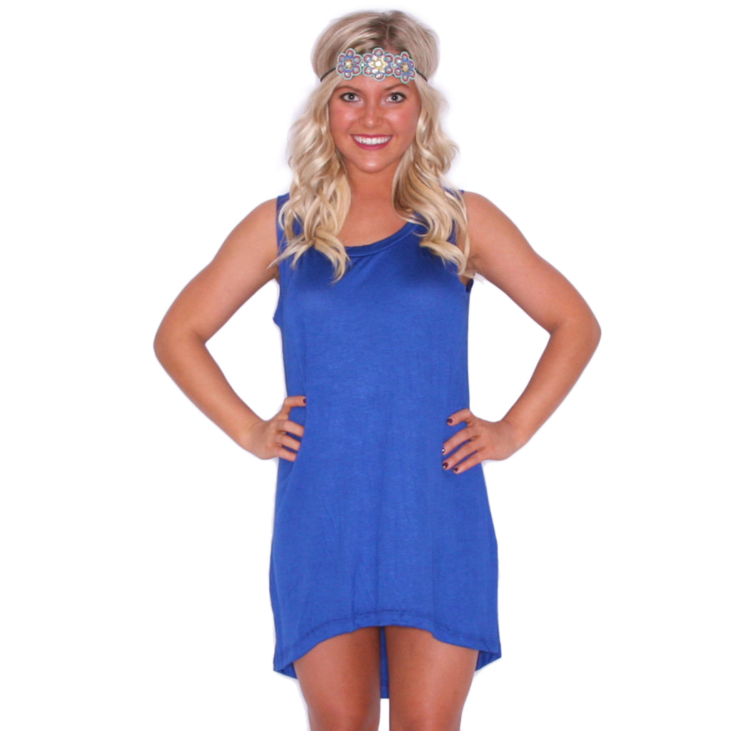 Anchors Away Tunic Tank in Royal Blue