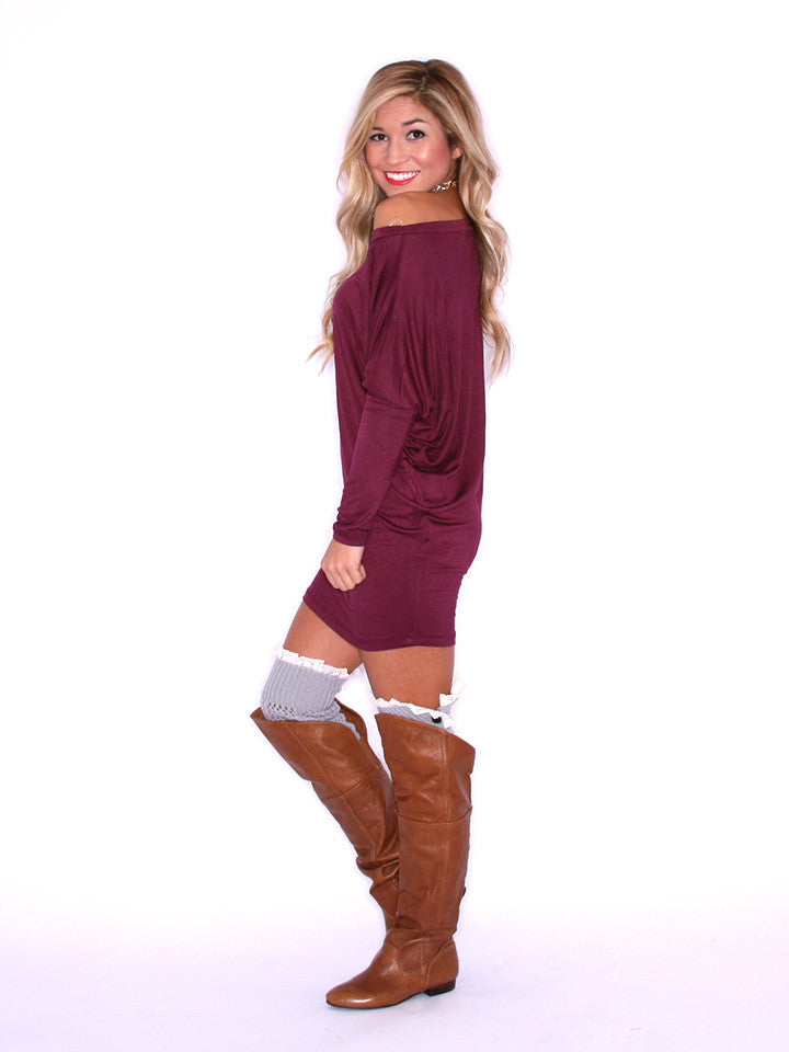 Wrap Me Up Tunic Burgundy