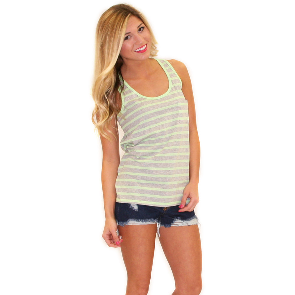 Bahama Bound Tank Green