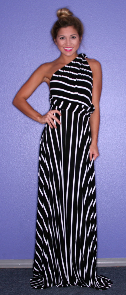 Bahama Stripe Maxi in Black