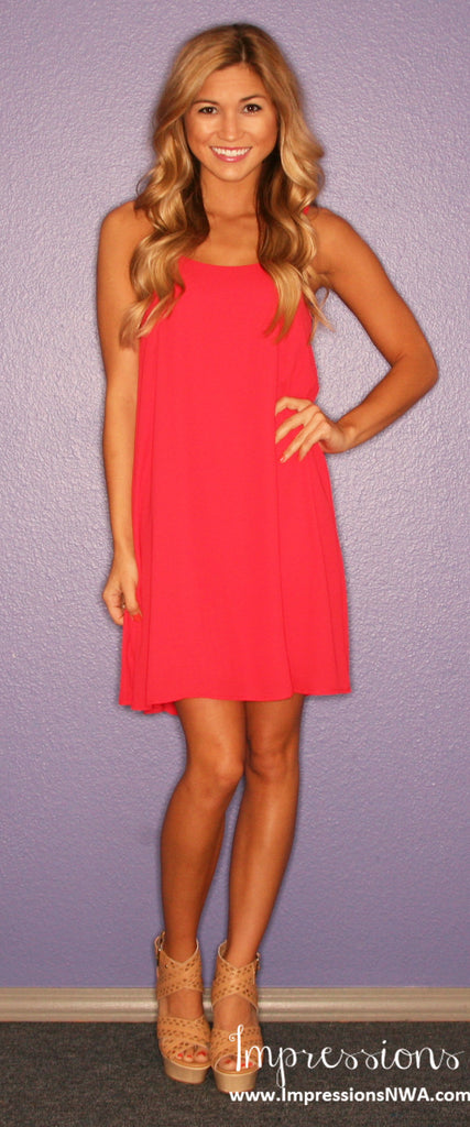 Bows & Kisses Red Tank Dress