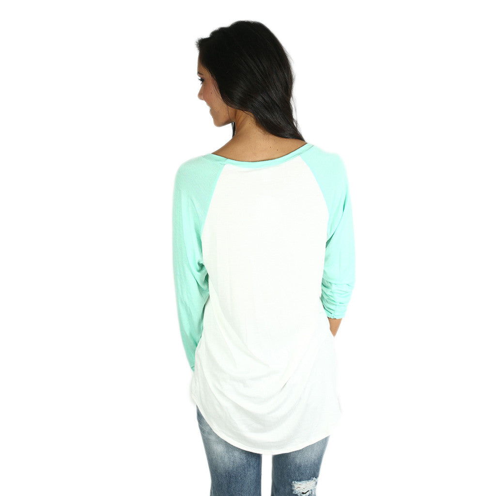 Ballpark Sunshine Tee Mint