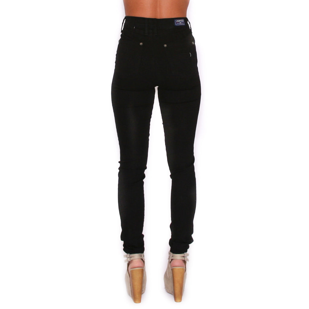 Basic High Rise Skinny Black