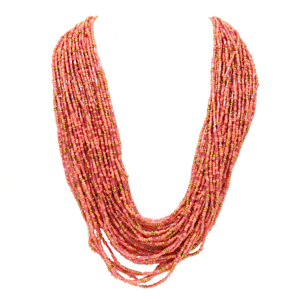 Beach Bound Necklace in Peach