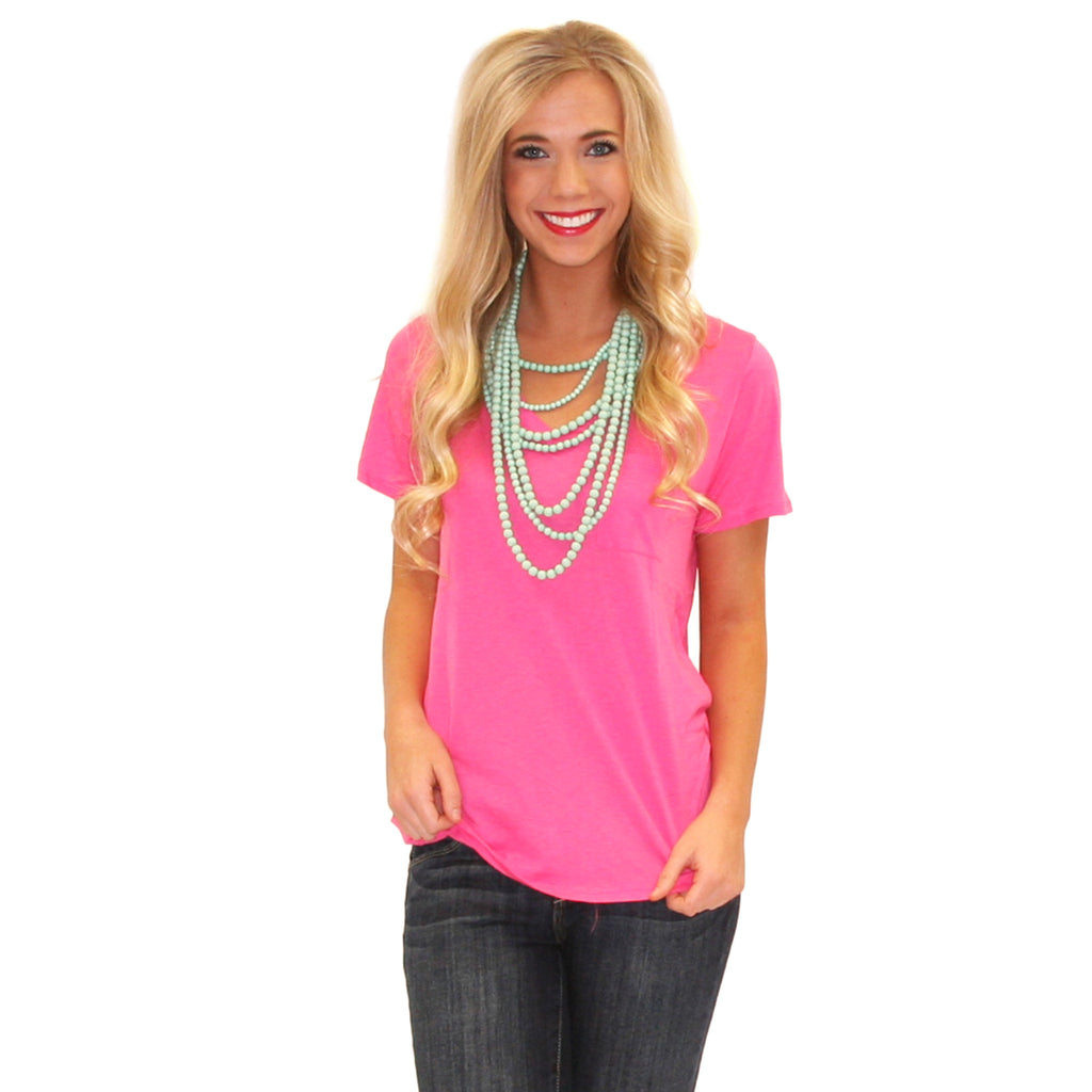 Beach Bound V-Neck Tee