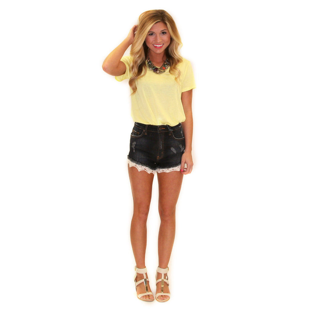 Beach Bound Tee Yellow