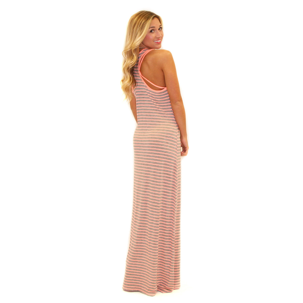 Beach Waves Maxi in Peach
