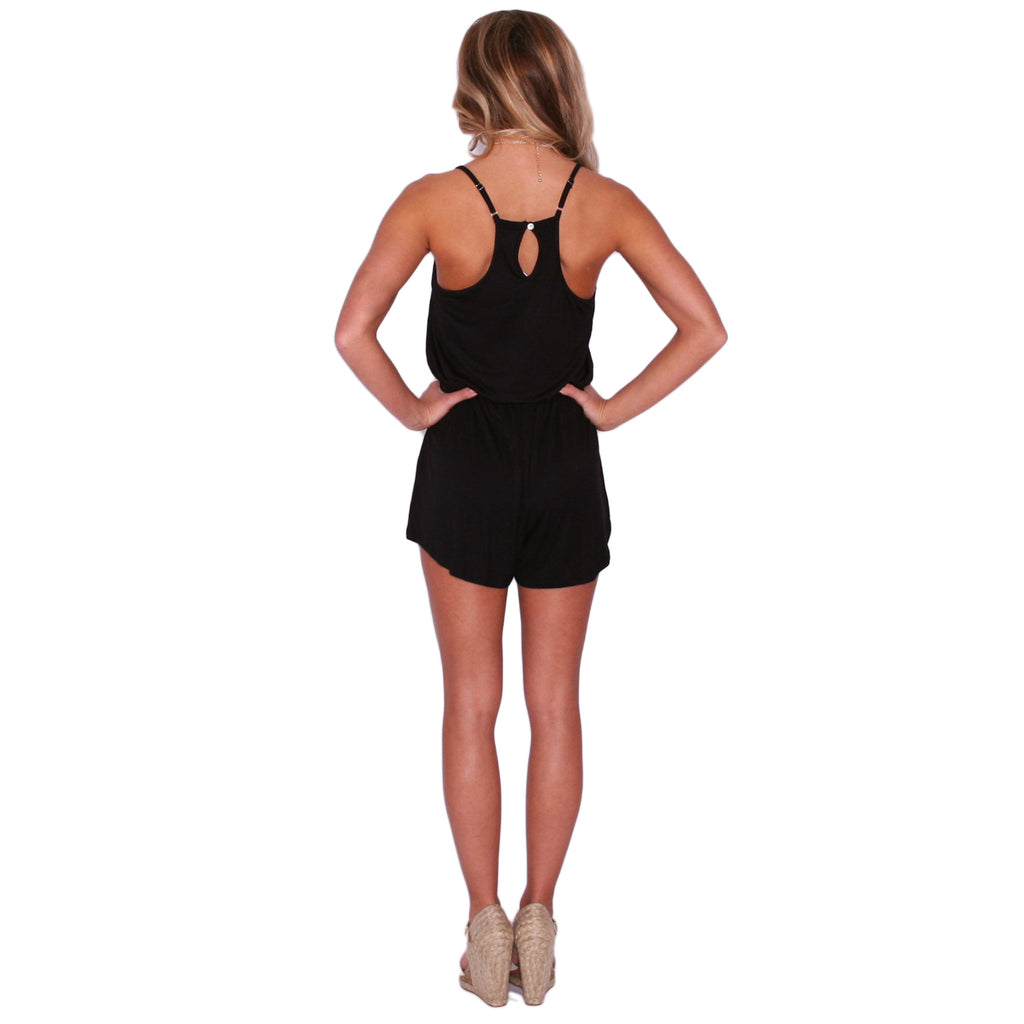 Beachy Keen Romper Black