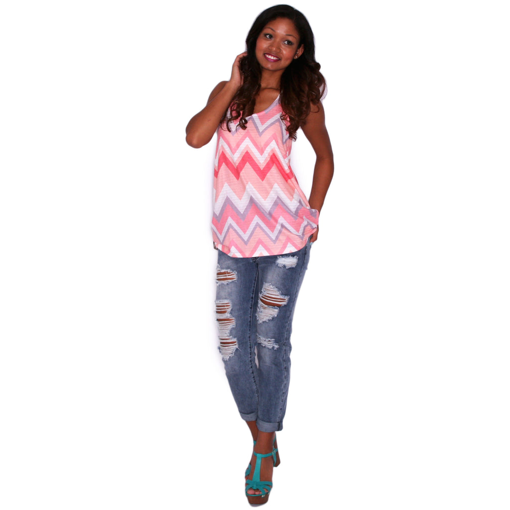 Beachy Stripe Tunic Tank