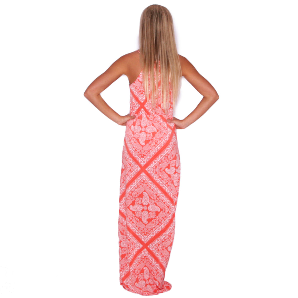 Beachy Waves Maxi in Orange